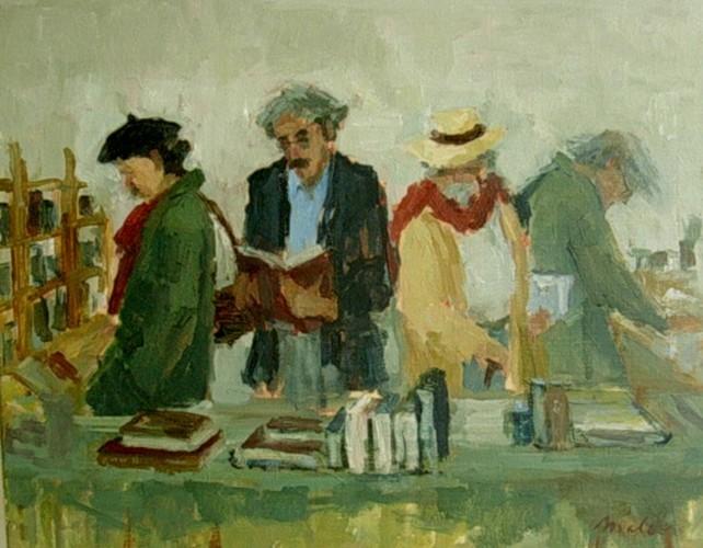 Gentlemen at the bookmarket