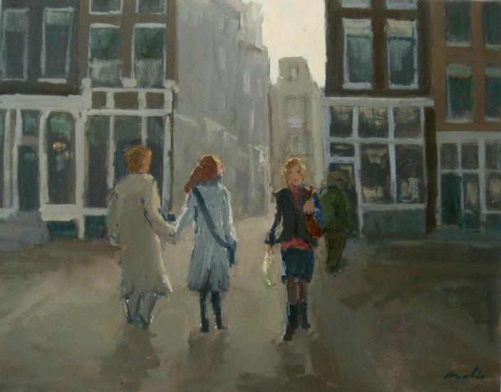Street Scene in backlight