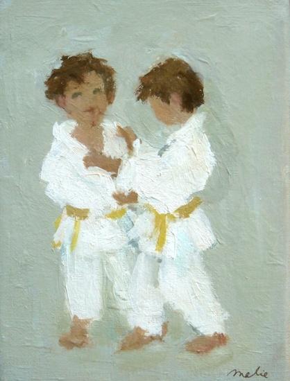 Little boys doing judo