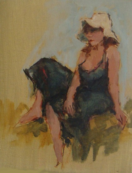 Model with Straw Hat
