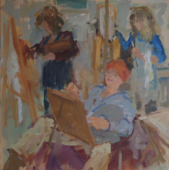 De vrolijke schilder