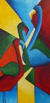 geabstraheerde kleurrijke schilderijen