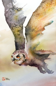 Vogels in aquarel