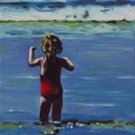 P148 meisje in zee