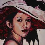 P181 vrouw met hoed