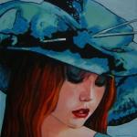 P183 vrouw met hoed