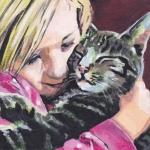 P255 meisje met kat