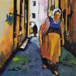 P272 vrouw in steegje