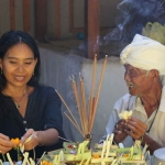 Priest in Bali with Ayu