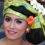 Balinese vrouw uit Karangasem