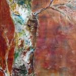 Acryl schilderij 'Bruine berk'