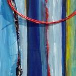 Acryl schilderij `Vasthouden-loslaten`