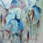 Acryl schilderij `Irissen'