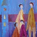 Acryl schilderij `Binding'