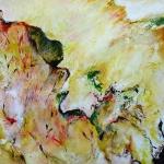 Acryl schilderij 'Herfstbladeren'