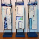 Huisjes 3 blauwe