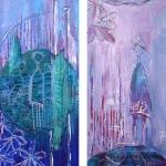 Acryl schilderij `Binnen/Buiten`