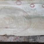 textiel schilderij 'wervelwind'