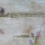 textiel schilderij 'snowflakes'