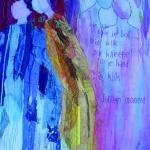textiel schilderij 'intiem moment'