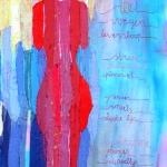 textiel schilderij 'slanke lijn'