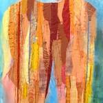 textiel schilderij 'together`