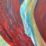 Acryl schilderij 'Rode doek'