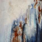 Acryl schilderij 'Op weg naar........