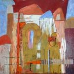 Acryl schilderij `Oosters mysterie'