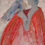 textiel schilderij 'mantel der liefde'