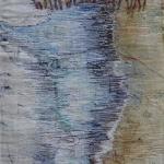 """textiel schilderij """"zee-strand"""""""