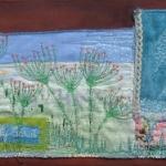 textiel schilderij: 'Bloementuintje'