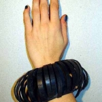 rubber armband rond geknipt