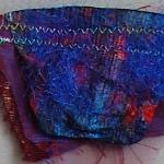 broche paars/blauw/rood