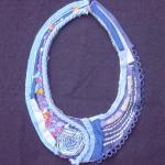 textiel ketting blauw