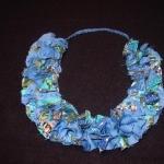 textiel ketting blauwe cirkels