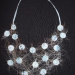 textiel ketting licht blauw