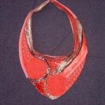 textiel ketting rood