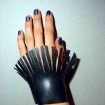 rubber armband ingeknipt