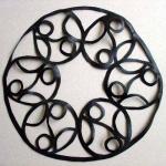 rubber kraag met ronde vormen