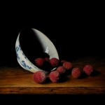 Chinese kom met lychees