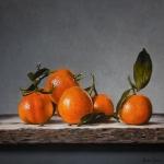 Gestapelde mandarijnen
