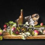 Stilleven met appels en kruikje