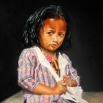 Meisje uit Nepal