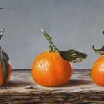 Mandarijnen, vijf op een rij