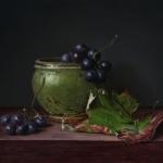 Potje met druiven