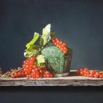 Gemberpotje en rode bessen