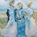 dames op het strand