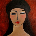 Girl with black beret