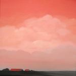 Roze wolkenlucht in Zeeland